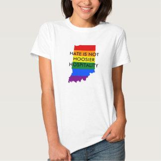 O ódio não é t-shirt da hospitalidade do Hoosier
