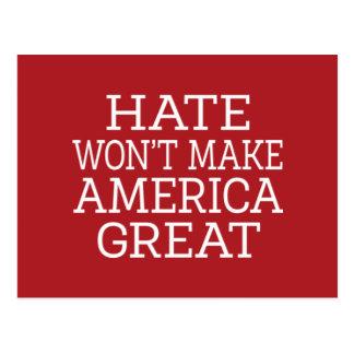 O ódio não fará o excelente de América Cartão Postal