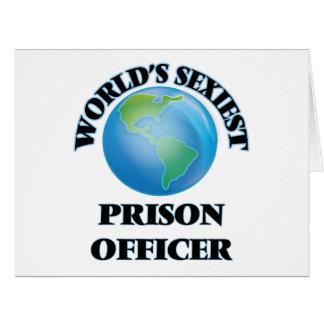 """O oficial de prisão o mais """"sexy"""" do mundo cartao"""