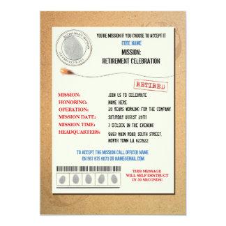 O oficial do partido de aposentadoria do agente convite 12.7 x 17.78cm
