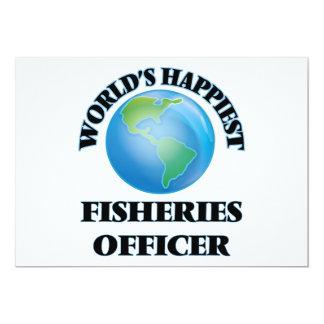 O oficial o mais feliz da pesca do mundo convite 12.7 x 17.78cm