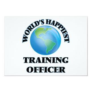 O oficial o mais feliz do treinamento do mundo convite 12.7 x 17.78cm