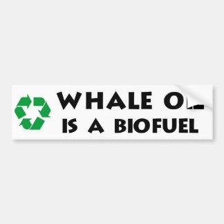 O óleo de baleia é um combustível biológico adesivo para carro