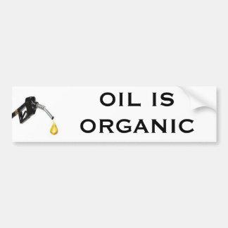 O óleo é orgânico adesivo