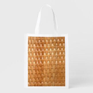 O olhar da textura de vime de Basketweave da laca Sacola Ecológica Para Supermercado