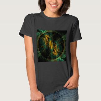 O olho da arte abstracta da selva t-shirt