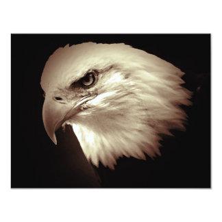 O olho de Eagle calvo do americano convida Convite 10.79 X 13.97cm