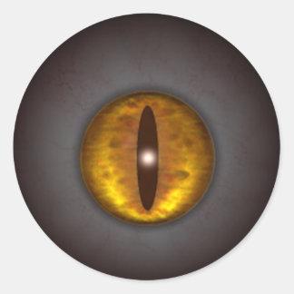 O olho de gato o Dia das Bruxas assustador do KRW Adesivo
