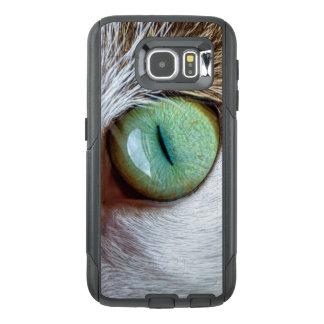 O olho de gato verde de fascinação