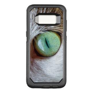 O olho de gato verde de fascinação capa OtterBox commuter para samsung galaxy s8