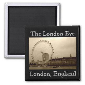 O olho de Londres, ímã de Londres, Inglaterra Ímã Quadrado