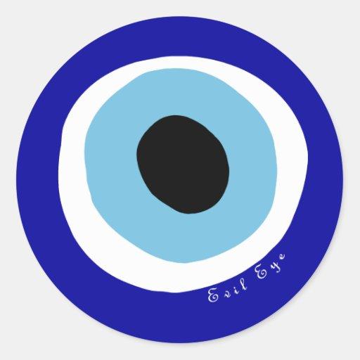O olho mau adesivo redondo