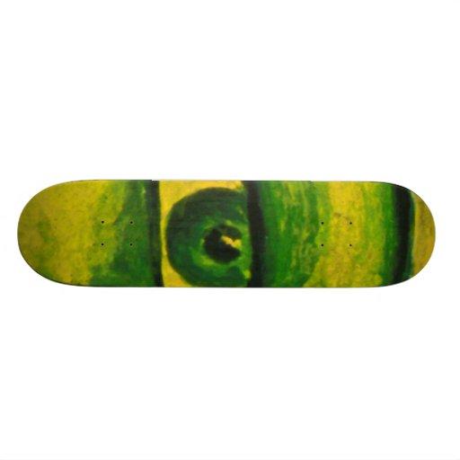 O olho - ouro & skate da consciência da esmeralda