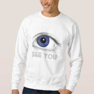 o olho VÊ-O Moletom