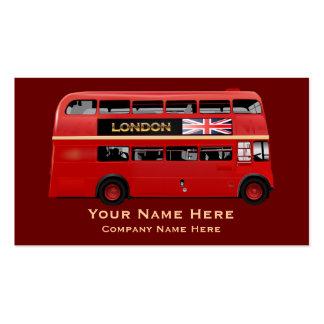 O ônibus do vermelho de Londres Cartão De Visita