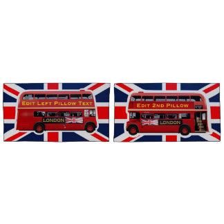 O ônibus vermelho do autocarro de dois andares de