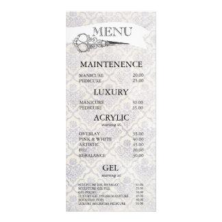 O ornamentado do vintage Scissors cartões do menu 10.16 X 22.86cm Panfleto
