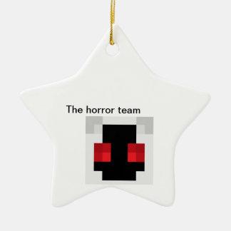 O ornamento da equipe do horror