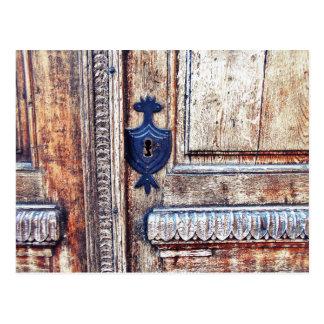 O ornamento do buraco da fechadura cartão postal