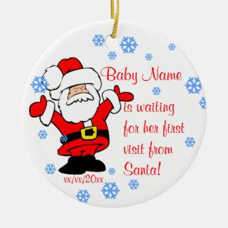 O ornamento personalizado primeiro Natal do bebê