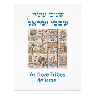 O ósmio Brasões DAS aplana Tribos de Israel Papel De Carta Personalizados
