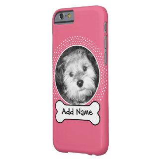 O osso e o costume de cão Pet a foto - branco Capa Barely There Para iPhone 6