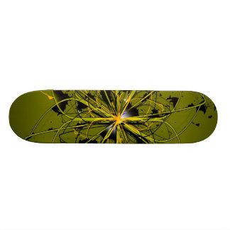 O ouro abstrato roda plataforma do skate