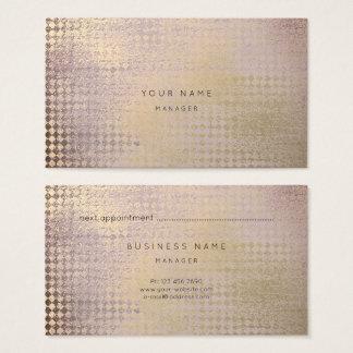 O ouro Amethyst cora cartão da nomeação do corte