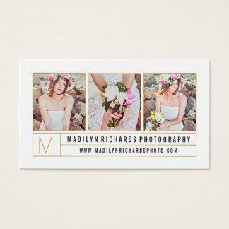 O ouro chique branco elegante moderno alinha a cartão de visitas