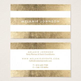 O ouro chique moderno do falso listra o cartão de visitas
