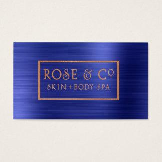 O ouro cor-de-rosa cora o quadro esmeralda 4 dos cartão de visitas