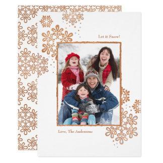 O ouro cor-de-rosa do falso deixou-o nevar! Cartão