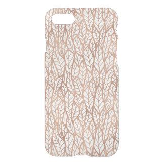 O ouro cor-de-rosa sae do teste padrão capa iPhone 7