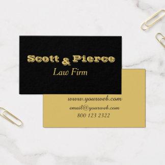 O ouro corajoso preto rotula advogados cartão de visitas