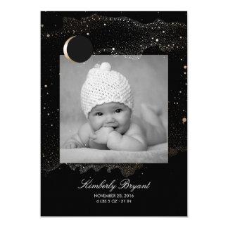 O ouro da noite estrelado Stars o nascimento Convite 12.7 X 17.78cm
