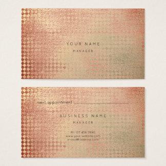 O ouro de cobre cora cartão da nomeação do corte