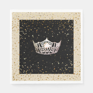 O ouro de prata da coroa da senhorita América Guardanapo De Papel