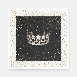 O ouro de prata da coroa da senhorita EUA Stars o Guardanapo De Papel