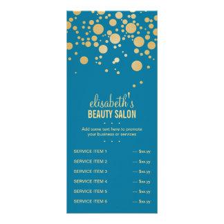 O ouro do encanto pontilha a decoração - cor retro 10.16 x 22.86cm panfleto