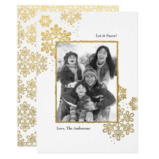 O ouro do falso deixou-o nevar! Cartão de Natal da