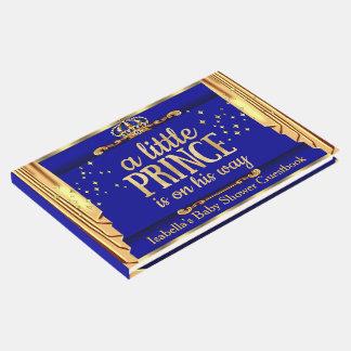 O ouro dos azuis marinhos drapeja o príncipe chá livro de visitas