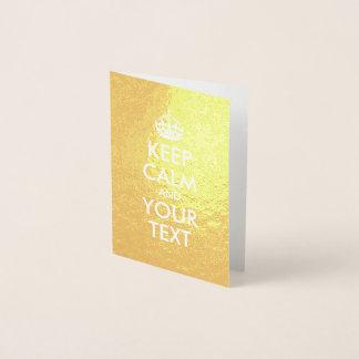 O ouro e o branco mantêm a calma e o seu texto cartão metalizado
