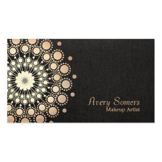 O ouro elegante circunda o olhar do preto do maqui cartões de visitas
