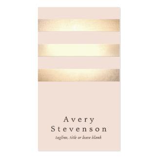 O ouro elegante listrou a luz moderna - chique cartões de visitas