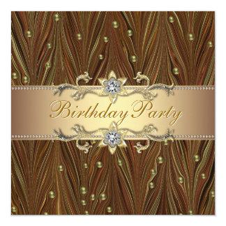 O ouro elegante peroliza o convite de aniversário