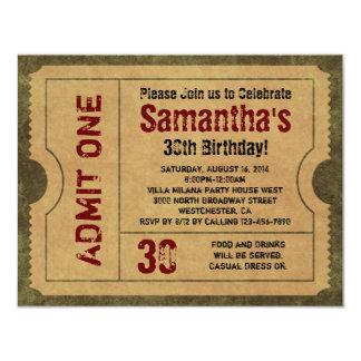 O ouro feito sob encomenda do vintage admite convite personalizado