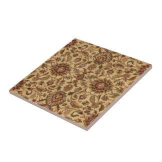 O ouro floresce o tapastery oriental do Arabesque Azulejos De Cerâmica