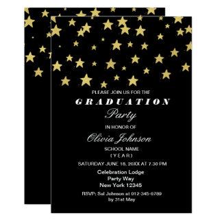 O ouro moderno Stars o cartão da festa de