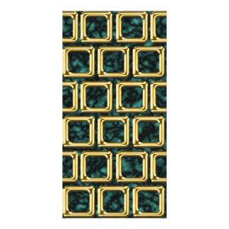 O ouro molda o teste padrão cartão com foto