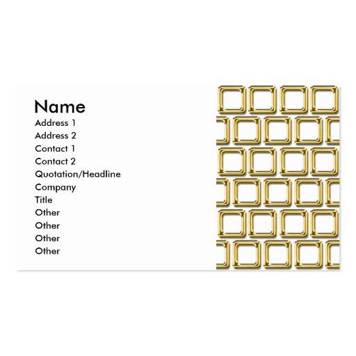 O ouro molda o teste padrão cartões de visitas